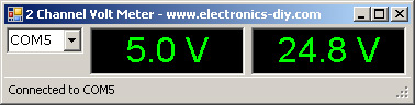 2-Channel USB Volt Meter
