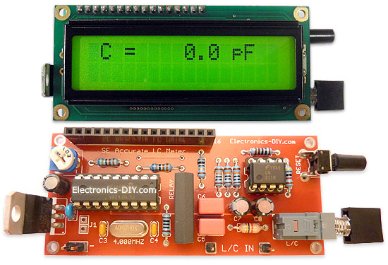 Accurate LC Meter Capacitance Inductance Meter with 16F628 and LCD