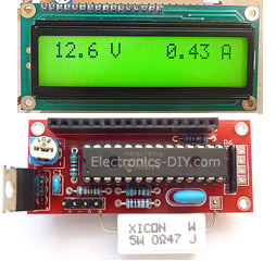 Volt Ampere Meter with 16F876 Microcontroller and LCD display