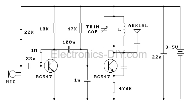 Circuit Diagram Of Fm Transmitter The Circuit Uses Only Single