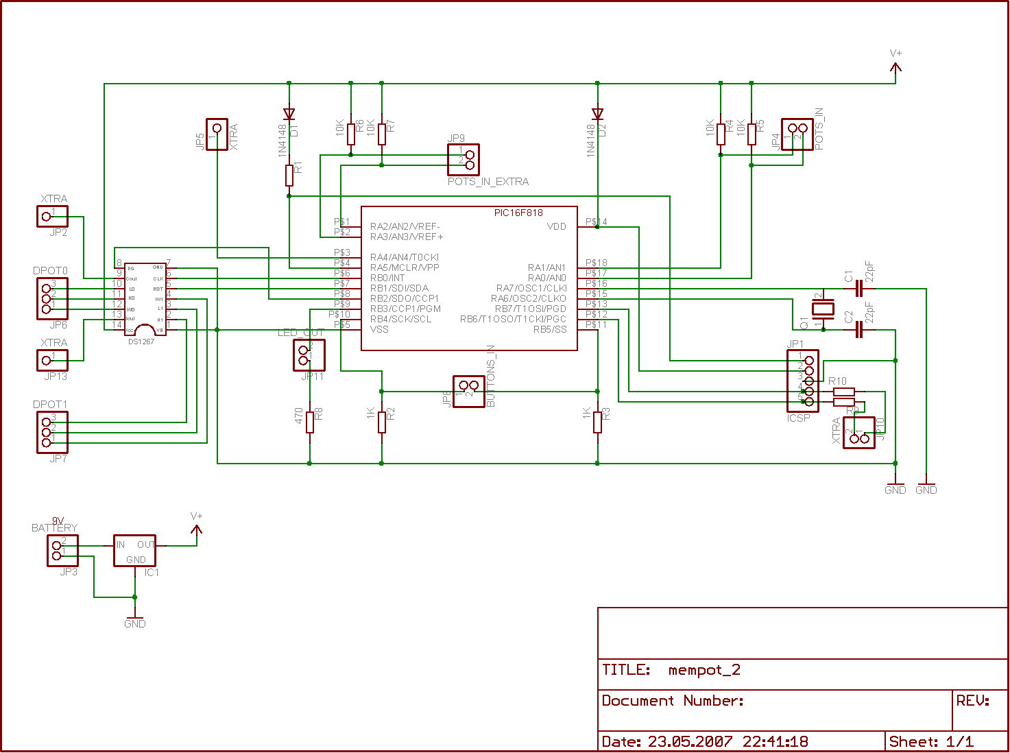 Digital Potentiometer With Memory Eagle Cad Controller Schematic Display