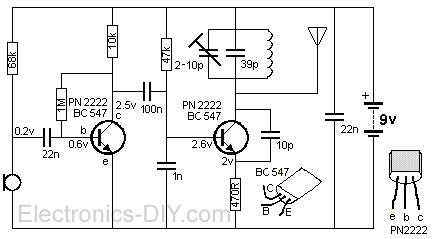 mini fm transmitter rh electronics diy com FM Transmitter Project 32Ittmax2606 Schematic Best AM FM Transmitter