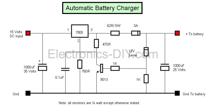 automobile battery charger schematic