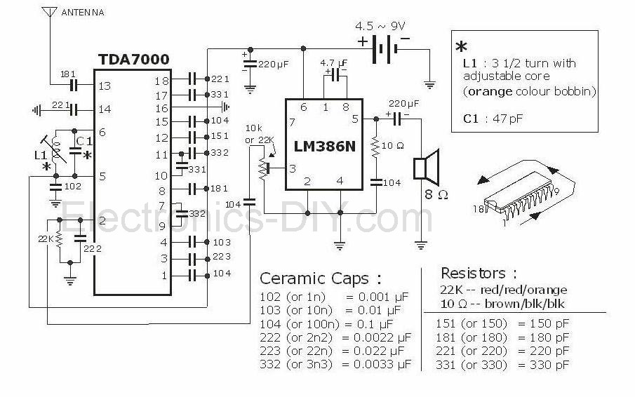Fm Radio With Tda7000 on generator circuit diagram