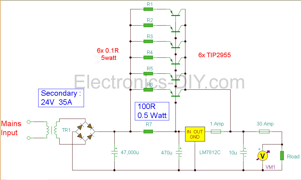 12v power supply 30a rh electronics diy com