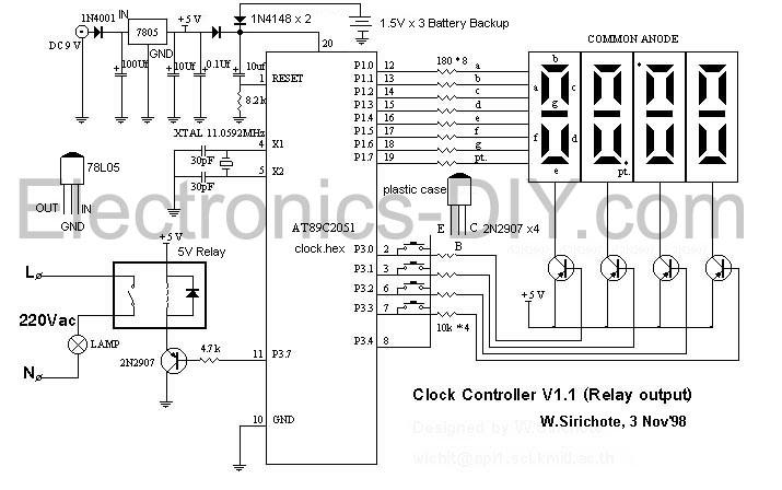 7 segment clock circuit diagram  u2013 the wiring diagram