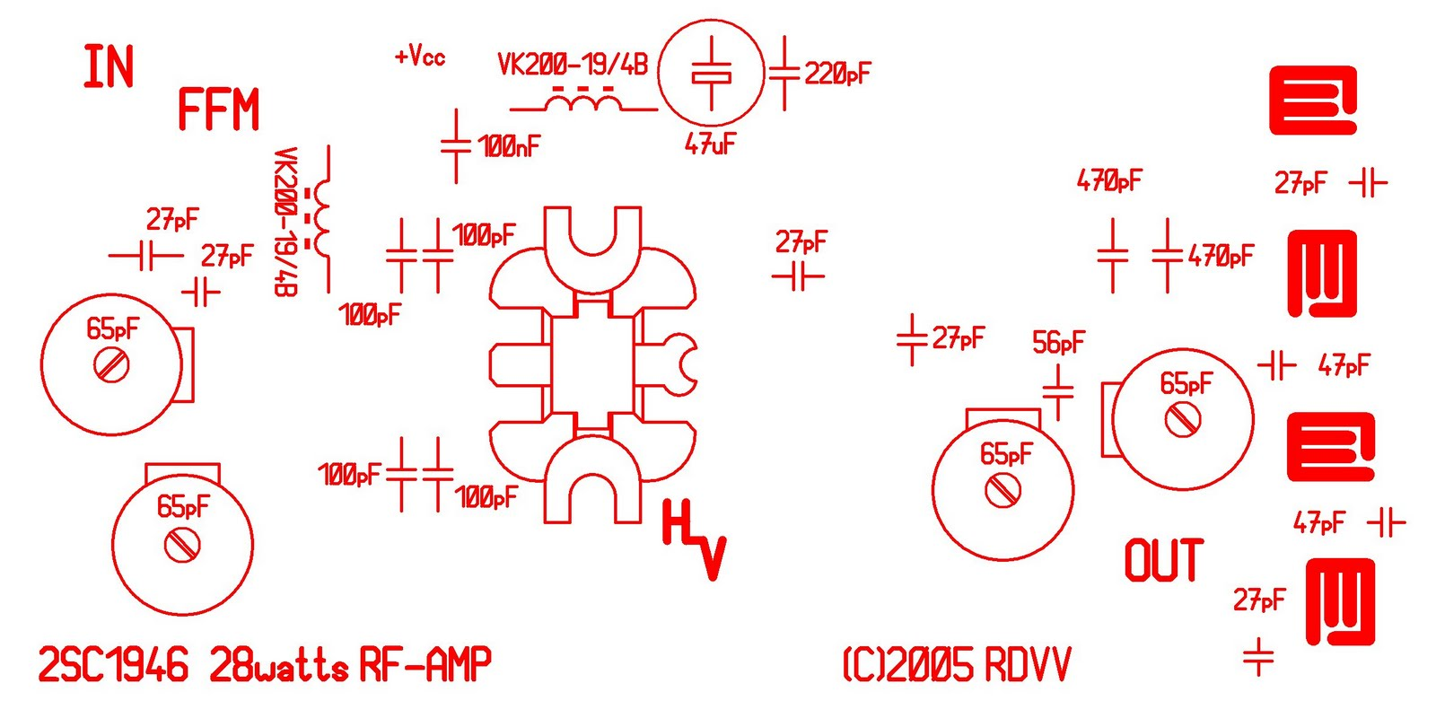 28w Fm Broadcast Transmitter Amplifier 88 108 Mhz Stable Circuit Diagram