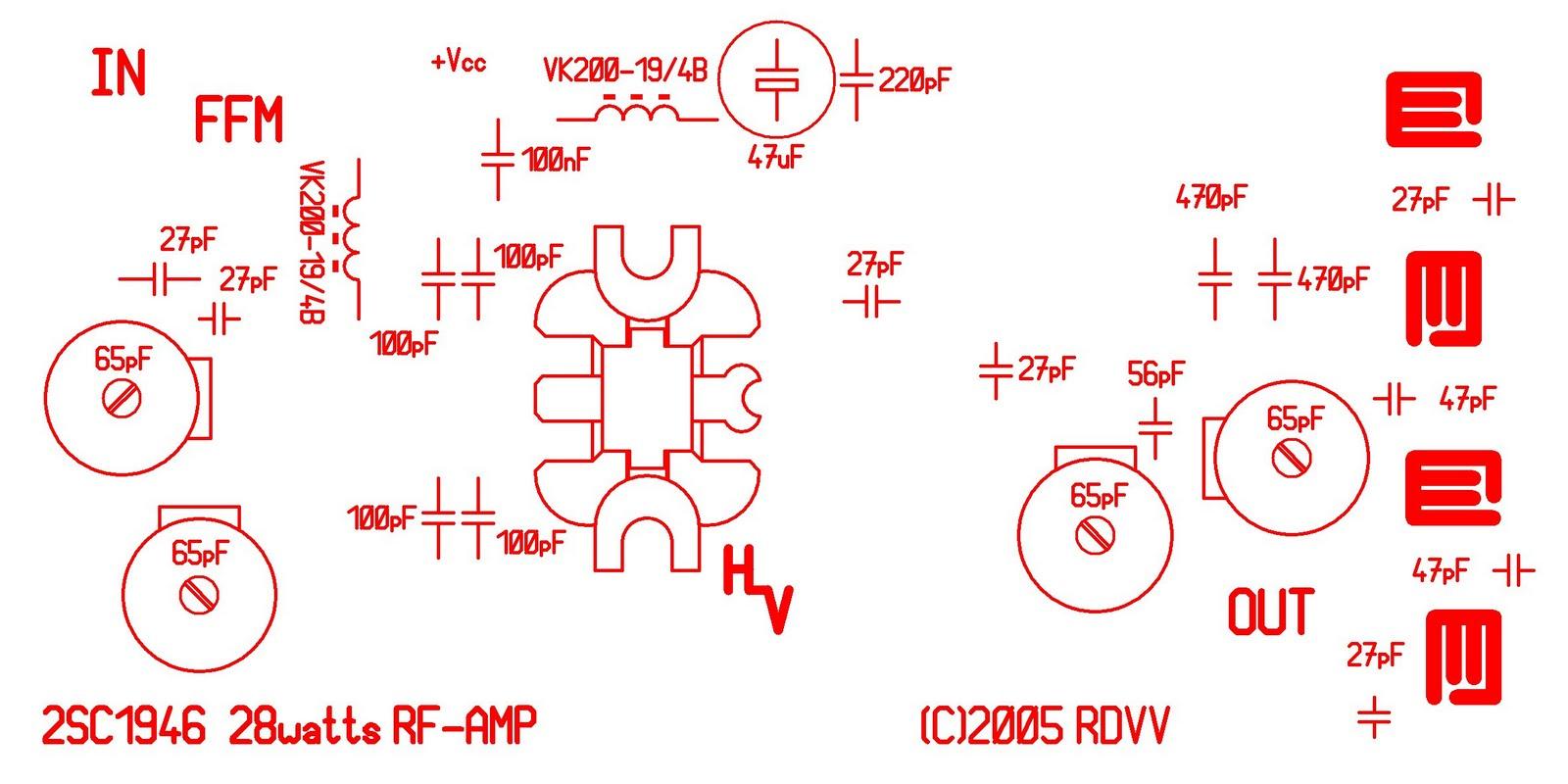 28w Fm Broadcast Transmitter Amplifier 88 108 Mhz Low Power Circuit