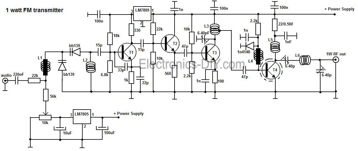 1w fm transmitter