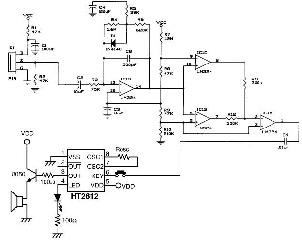 pir motion detector circuit motion detector pir motion detector circuit diagram at crackthecode.co