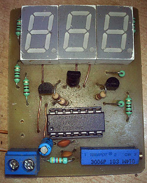 30v volt meter with pic16f676 rh electronics diy com Volt Meter Cable Volt Meter Cable