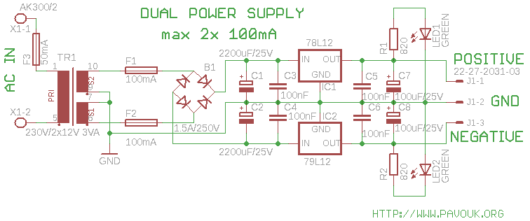 12v dual power supply rh electronics diy com 12V Relay Wiring 6V to 12V Wiring Diagram
