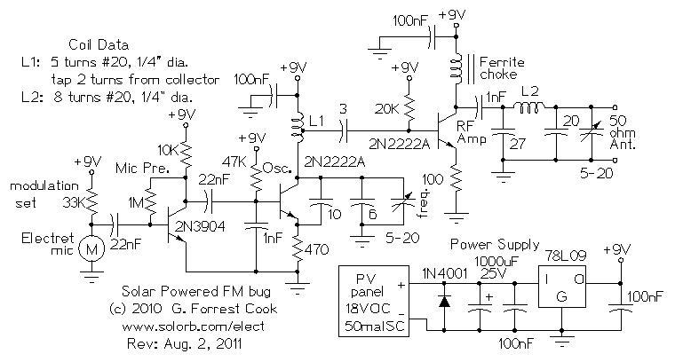 solar powered long range fm transmitter rh electronics diy com Solar Powered FM Transmitter Receiver 1 Mile FM Transmitter