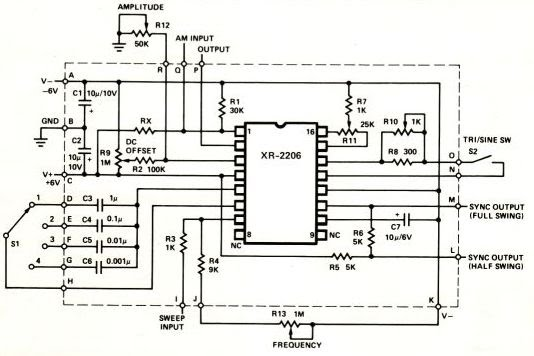xr2206 function generator circuit diagram  xr2206  free