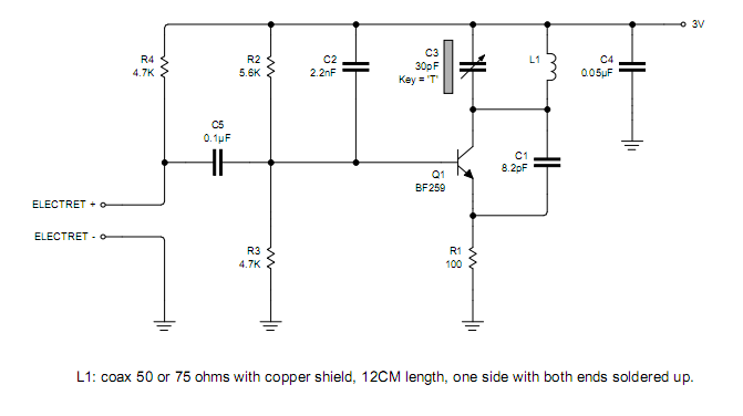 Simple Coil Less Fm Transmitter