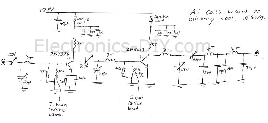 Fm Amplifier Fm Amplifier Circuit Diagram Power Amplifier For Fm Rf