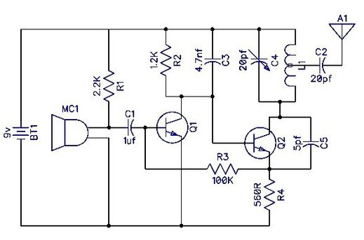 Fm Transmitter Receiver Circuits Application Wiring Diagram
