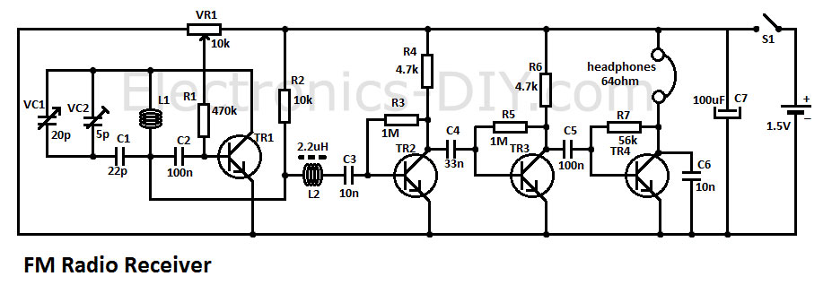 simple fm radio receiver  electronics diy