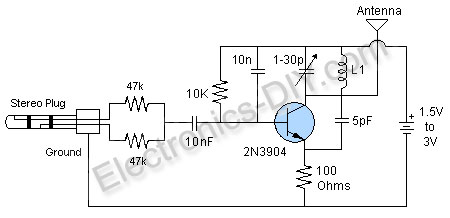 Simple Mp3 Fm Transmitter Circuit Diagram - Wiring Diagram Content
