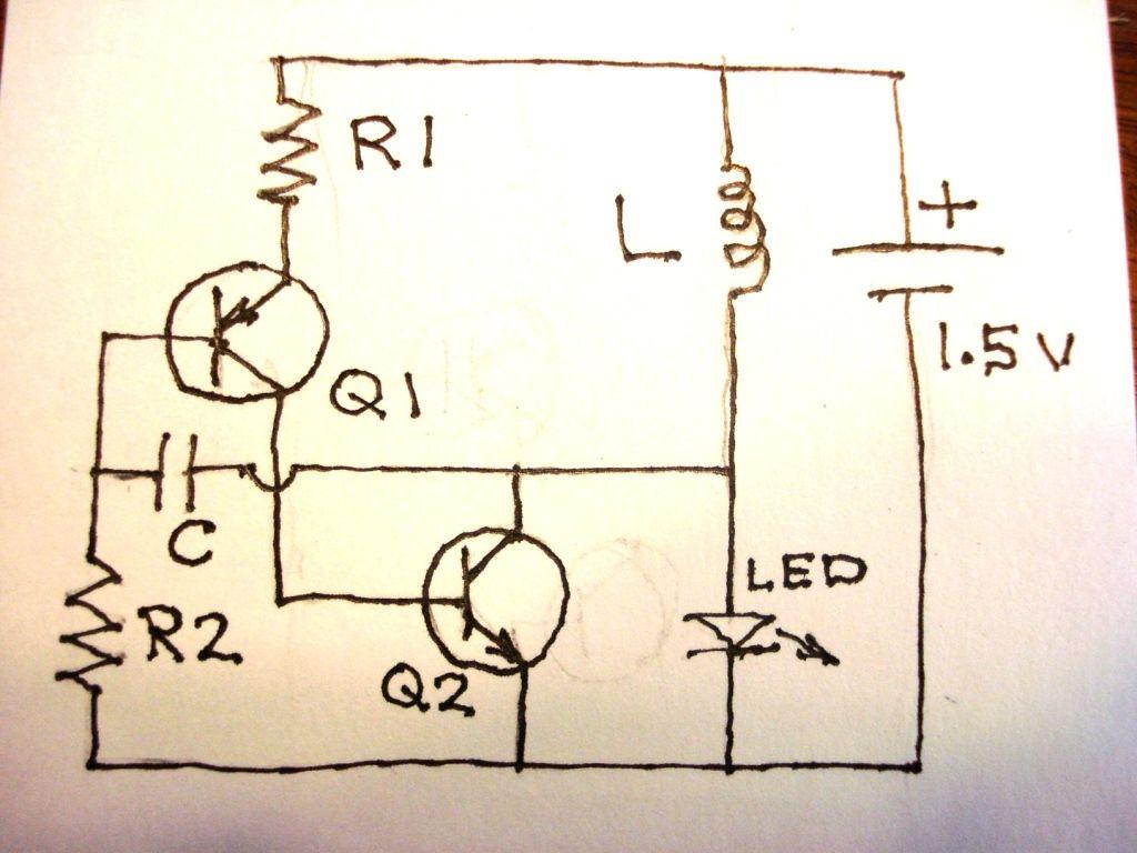 Simple Led Torch Circuit Diagram
