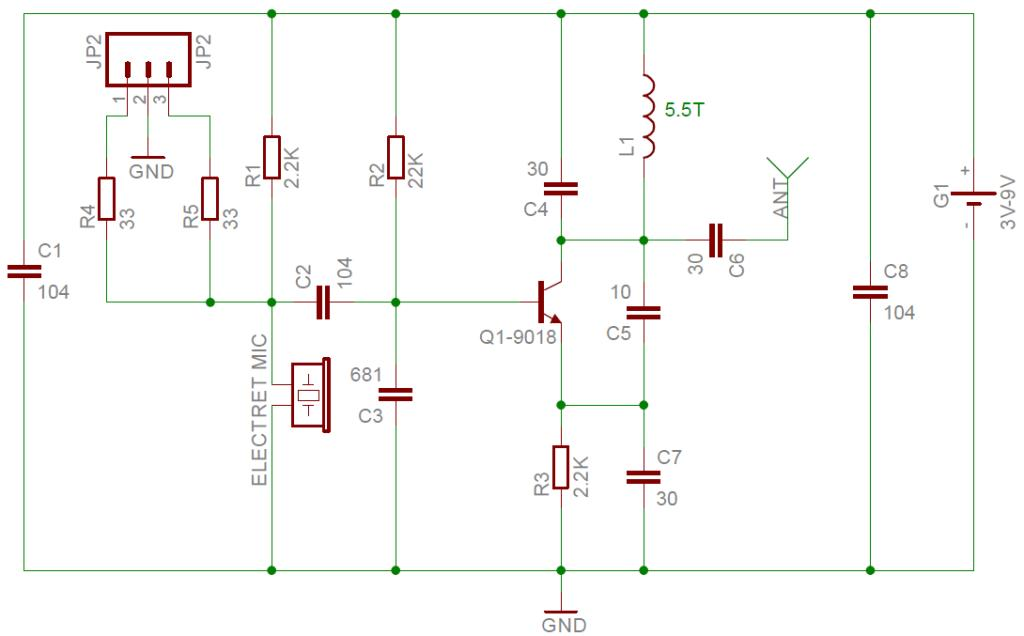 Electret Microphone  lifier Circuit furthermore Audio pre lifier as well Small Electret Microphone Pre  lifier likewise 76 110mhz Fm Radio Transmitter likewise How To  lify Electret Microphone To Range From 0 5v With Bias Of 2 5v. on microphone preamplifier circuit diagram