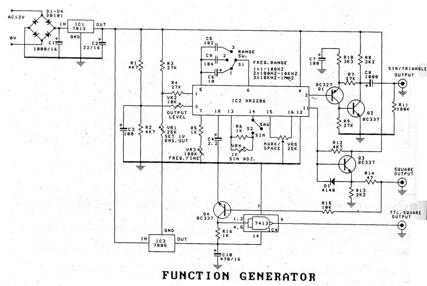 1hz to 1mhz xr2206 function generator