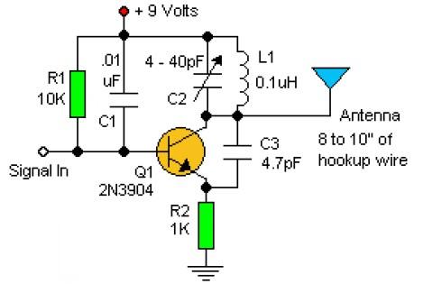 fm transmitter Wiring Schematic Diagram 200m Fm Transmitter Simple Circuit basic fm transmitter