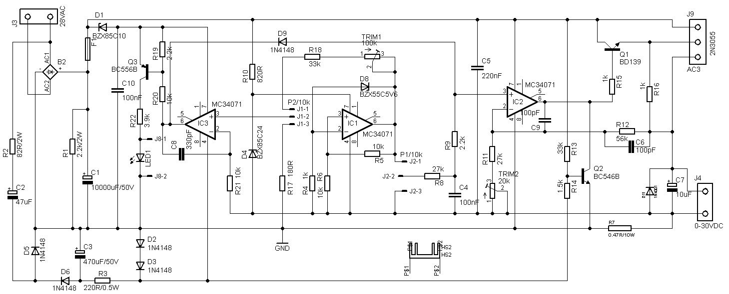 30v 4a Adjustable Bench Power Supply High Efficiency Wiring Diagram