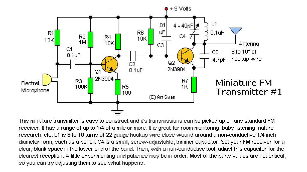 mini fm radio broadcast transmitter rh electronics diy com FM Radio Transmitter Antenna FM Radio Station Transmitter