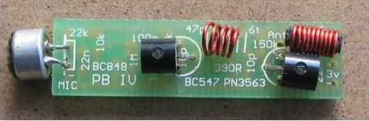pen fm transmitter bug rh electronics diy com Electronic Kit FM Transmitter Bug Solar Powered FM Transmitter Receiver
