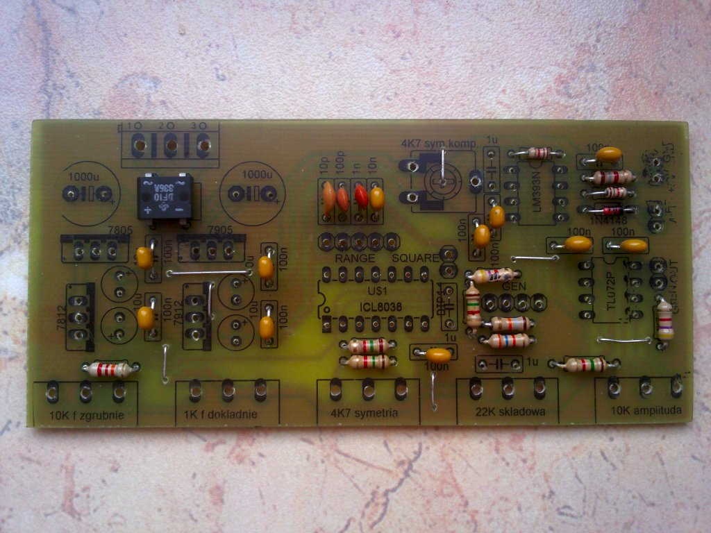 Icl8038 Function Generator Pulse Or Waveform Circuit