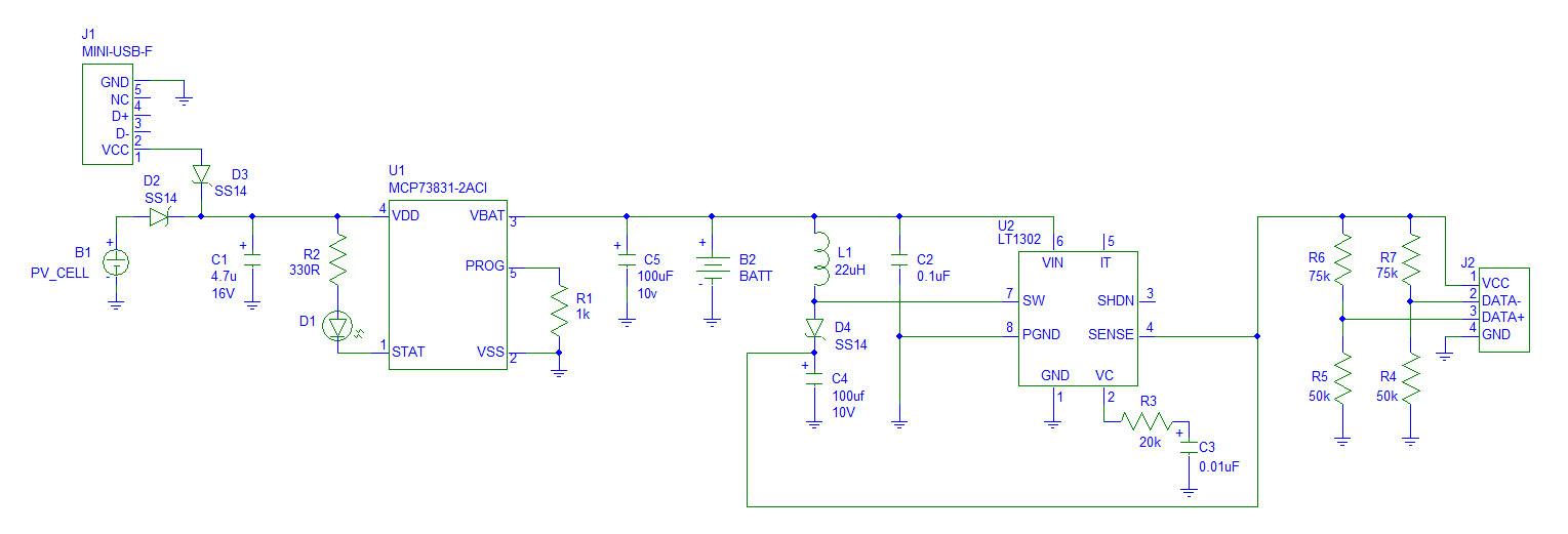 Solar Powered Led Circuit Schematic Diagram