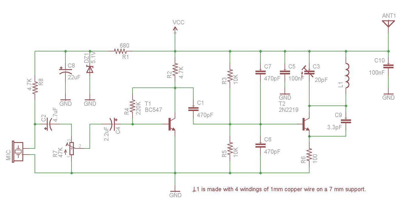 1 Watt Fm Transmitter Mhz Circuit Good Basic Low Power