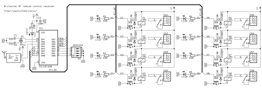 Decoder Ch Rf on Tv Schematic Circuit Diagram