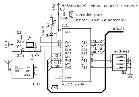 Electronic schematic on tda7000 radio kit