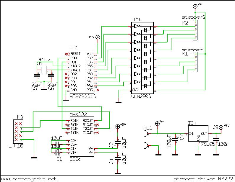 avr pc stepper motor driver rh electronics diy com Stepper Motor Driver Board Adafruit Stepper Motor Driver Board