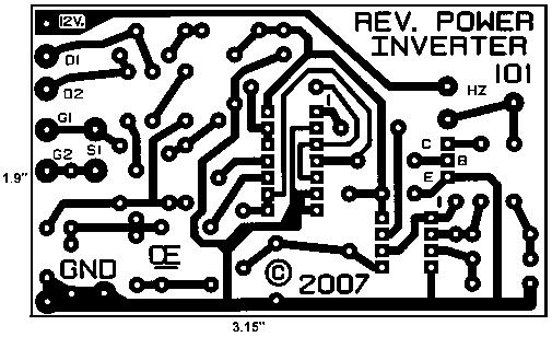 Circuit Diagram Of Inverter Using Mosfet | 500w Mos Fet Power Inverter From 12v To 110v 220v