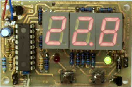 Digital Thermostat with LED Temperature Display
