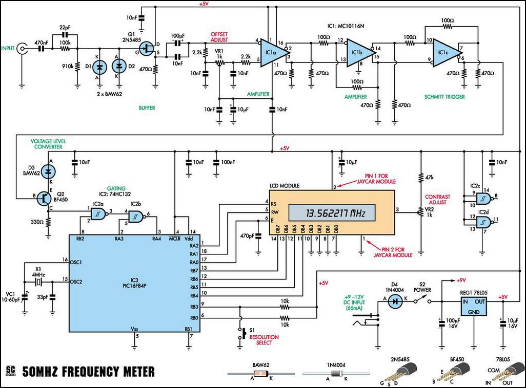 1 Mhz Sine Wave Generator Circuit furthermore Analog Frequency Meter Circuit additionally Ham 20radio 20projects as well Electronic schematic also 11. on rf frequency generator circuit