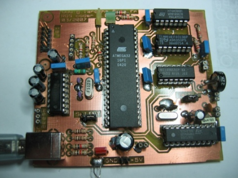 USB RDS Coder Board using ATmega32