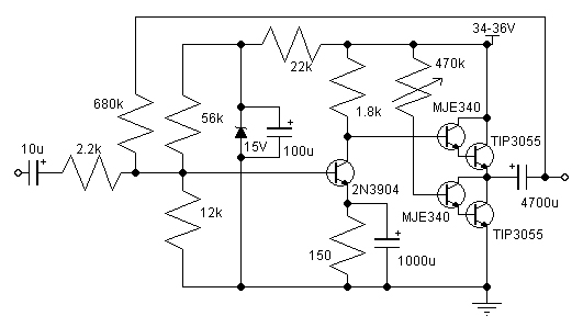 about 10-14w class a amplifier