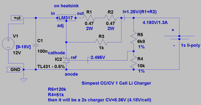 Simple Lithium-ion / Lipo Battery Charger