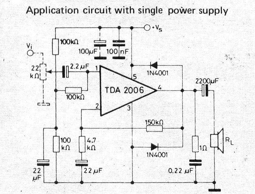 TDA2006 12W Power Amplifier