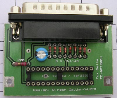 Parallel Port PIC Programmer for PIC18F2550