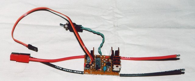 Plane Motor Controller with High-Rate ESC, BEC and Brake