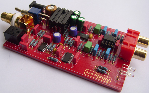 24-Bit 192KHz PCM1793 DAC with DIR9001 Receiver and OPA2134