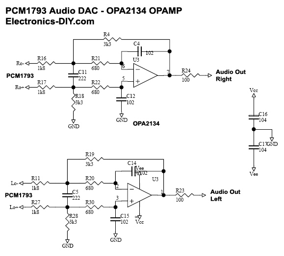 24-Bit 192KHz PCM1793 DAC with DIR9001 Receiver and OPA2134 ... on