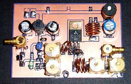 1.3W VHF RF Amplifier 2SC1970 88-108 MHz