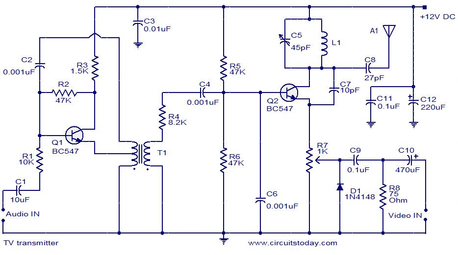 TV transmitter circuit