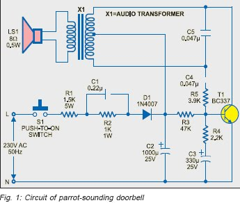 Terrific Circuit Project Doorbell Warning Switch Basic Electronics Wiring Wiring 101 Orsalhahutechinfo
